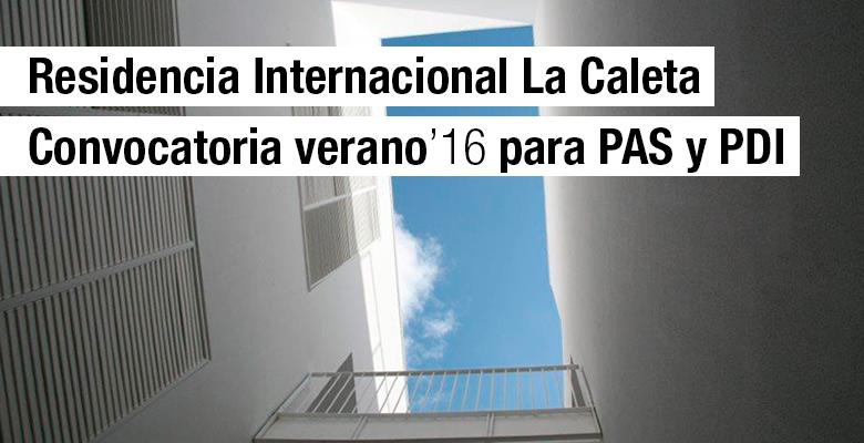Listado provisional Residencia La Caleta 16/17