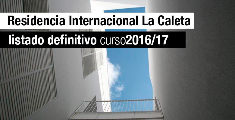 Slider Listado definitivo Residencia La Caleta 16/17