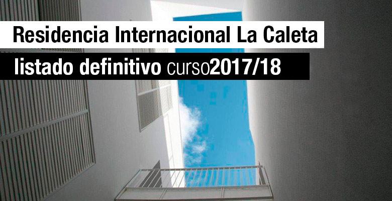 Listado definitivo Residencia La Caleta 2017/18